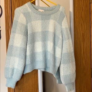 Lauren Conrad warm fuzzy sweater
